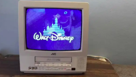 Old JVC TV with a DVD slot