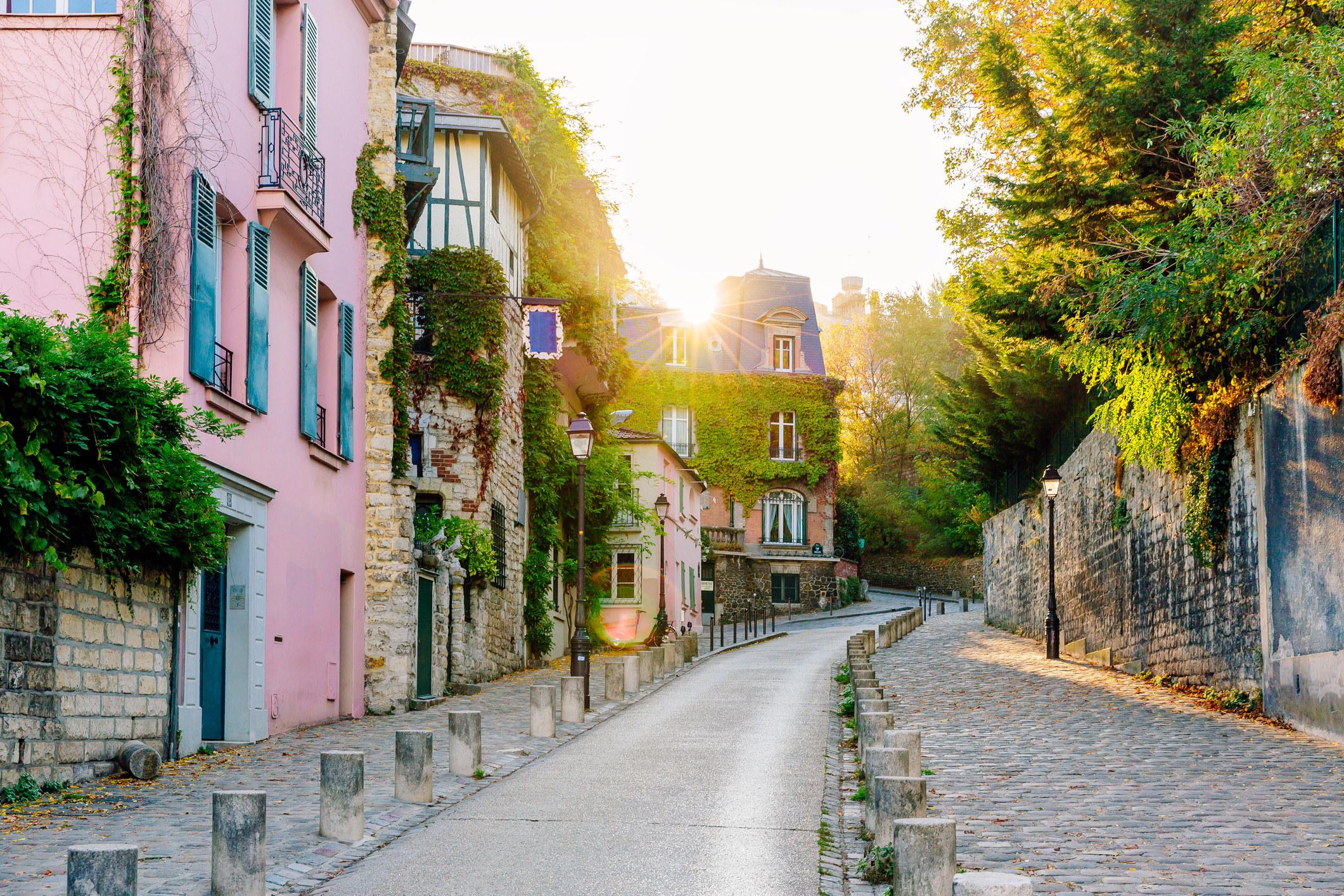 A quiet street in Paris.