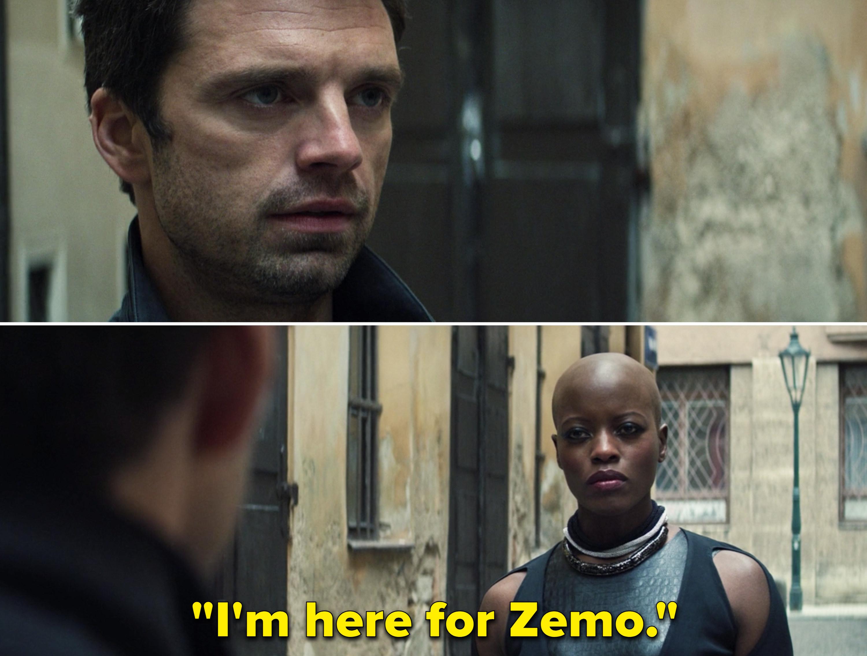 """Ayo saying, """"I'm here for Zemo"""""""