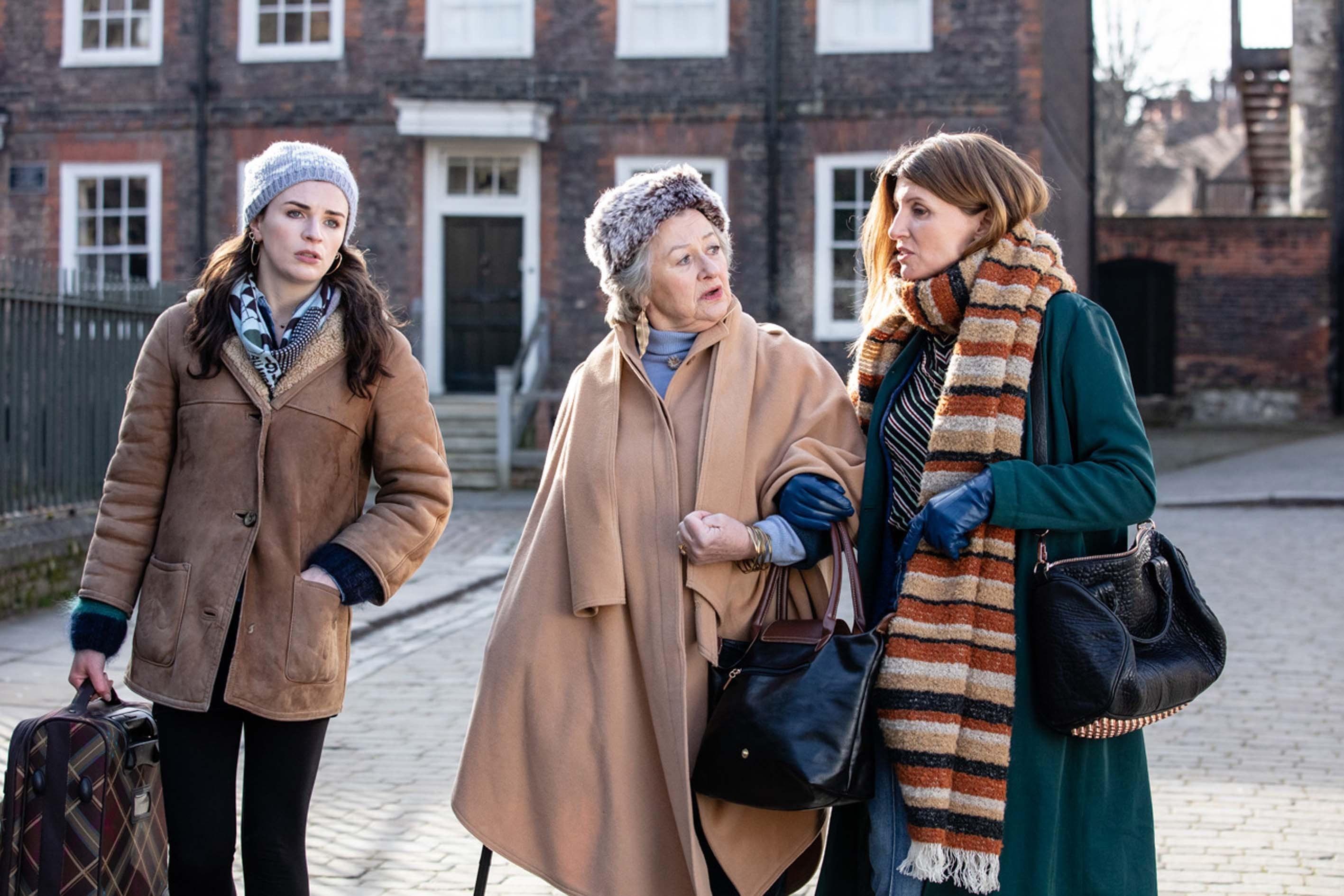 Aisling Bea, Sorcha Cusack, and Sharon Horgan (Season 1, Episode 104)