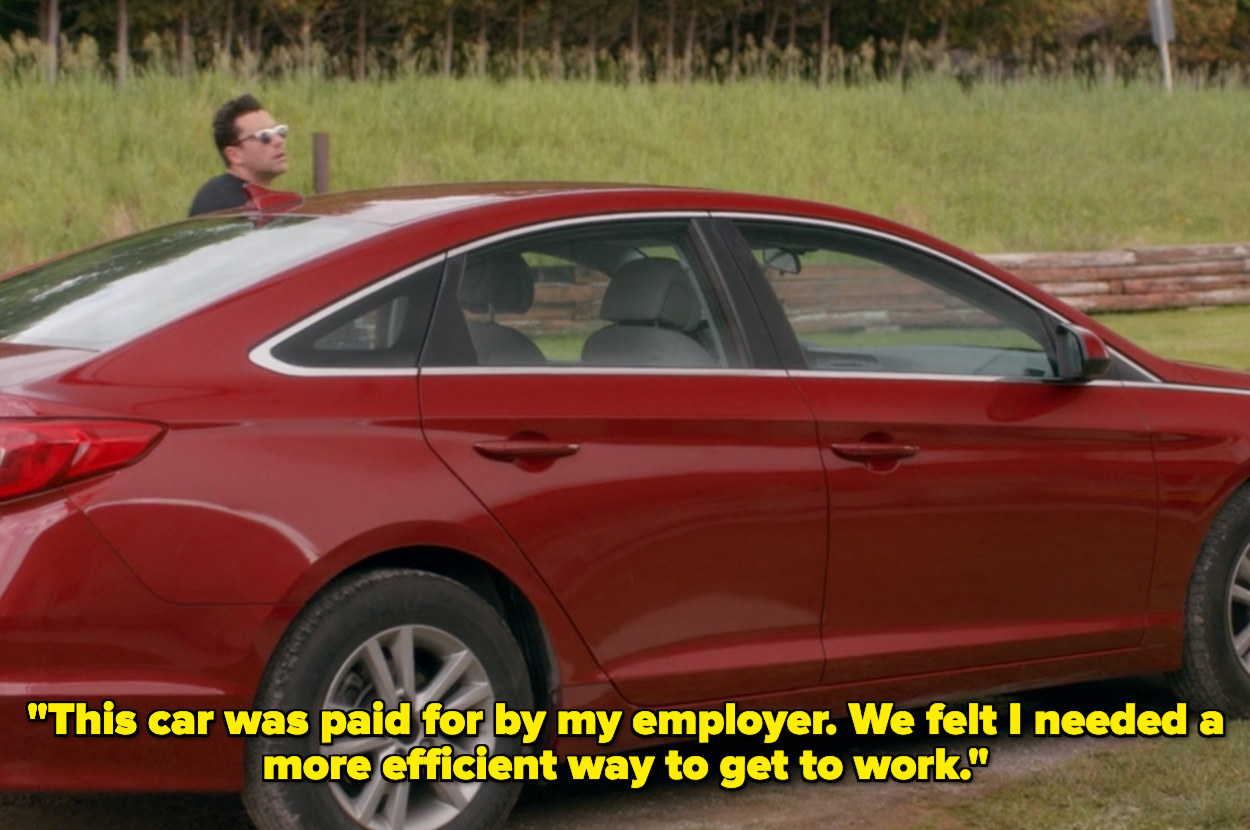 David using a car paid for by his employer