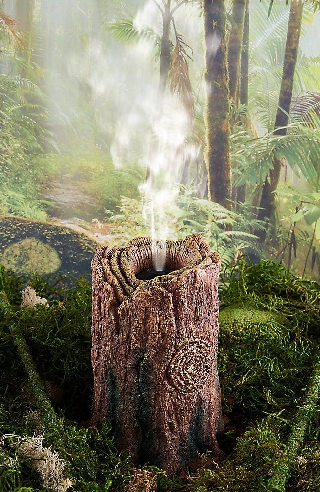 The fogger in a tank dispensing fog