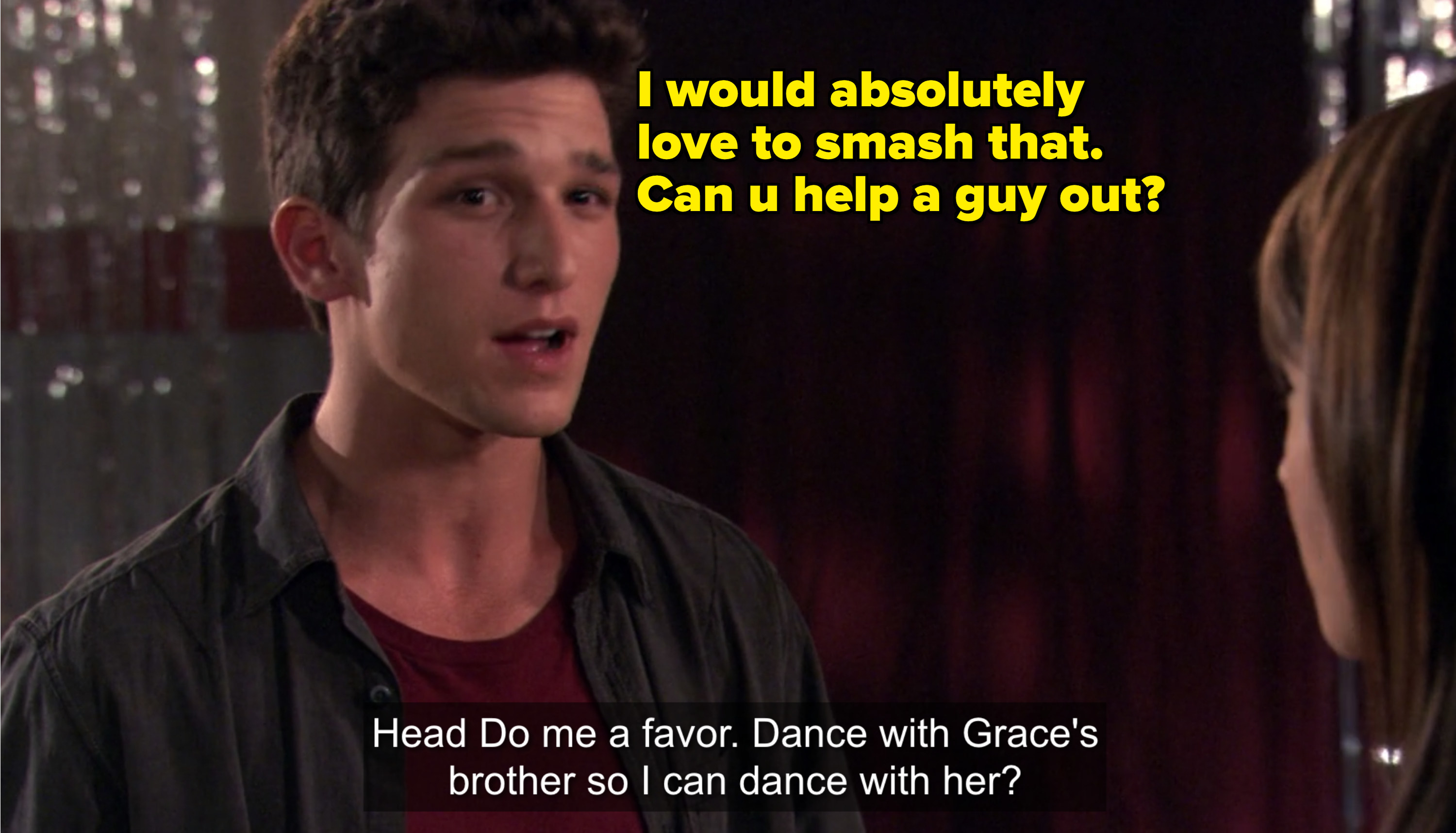 ricky talking to amy at dance