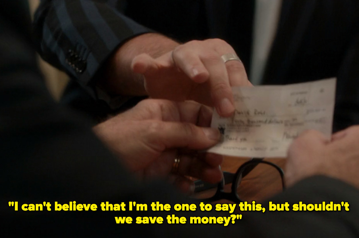 David suggesting his family save the money