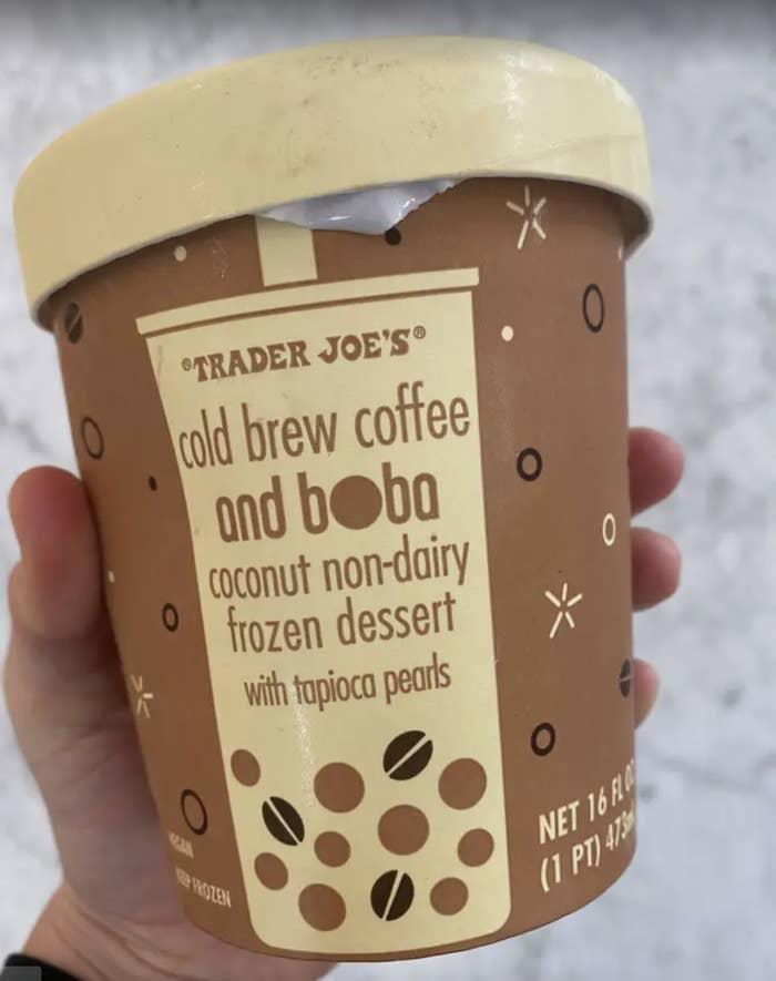 Cold Brew Coffee and Boba Non-Dairy Frozen Dessert