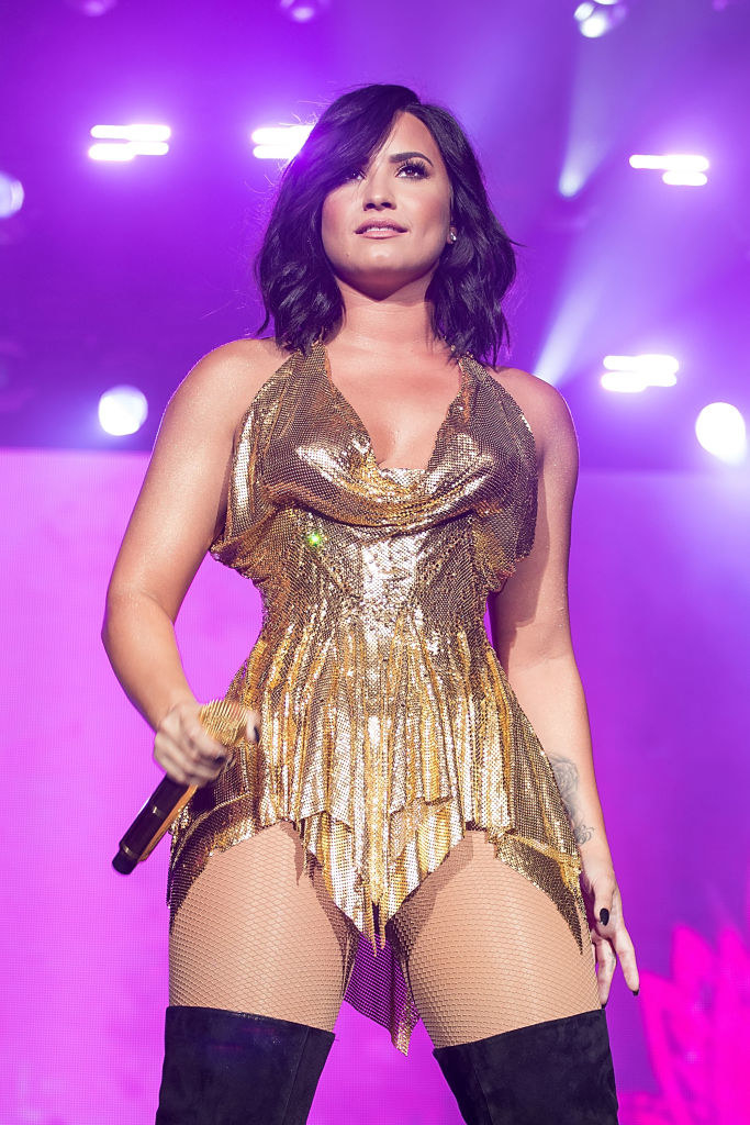 Demi Lovato performs onstage during BeautyKind Unites: Concert for Causes