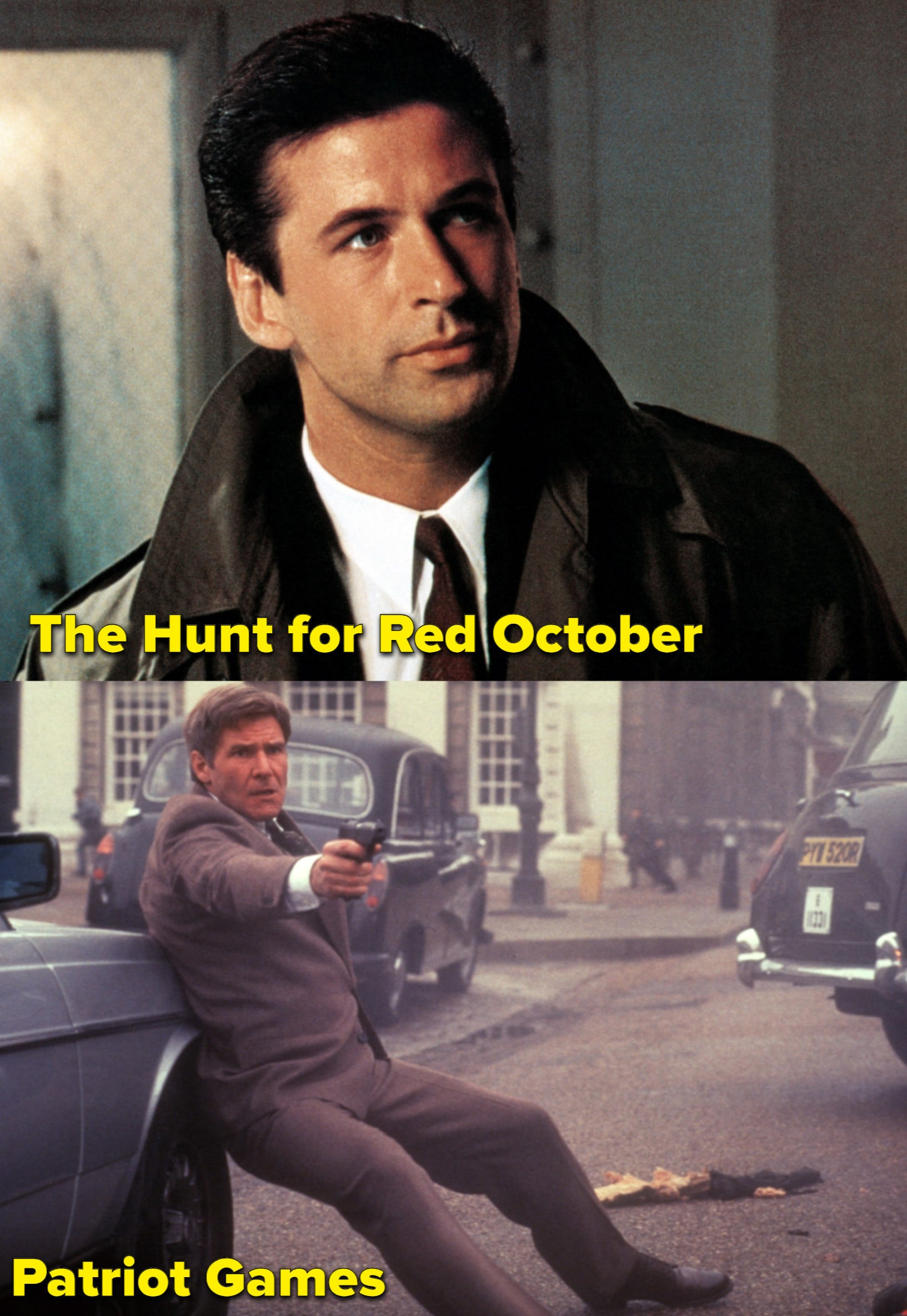 Baldwin and Ford as Jack Ryan, respectively
