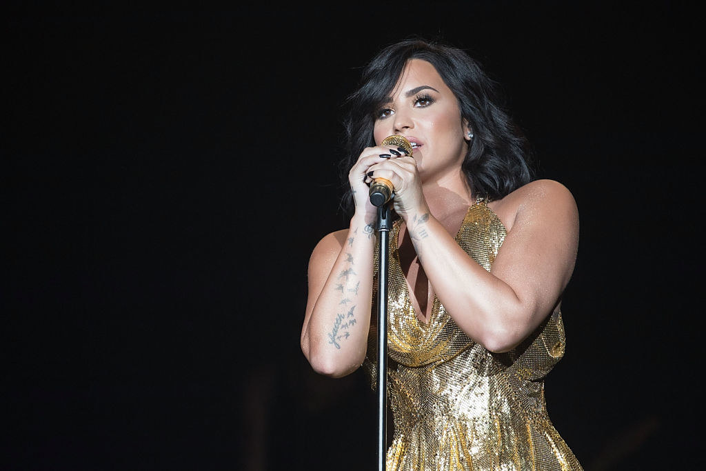 Demi Lovato performs onstage during BeautyKind Unites: Concert for Causes at AT&T Stadium