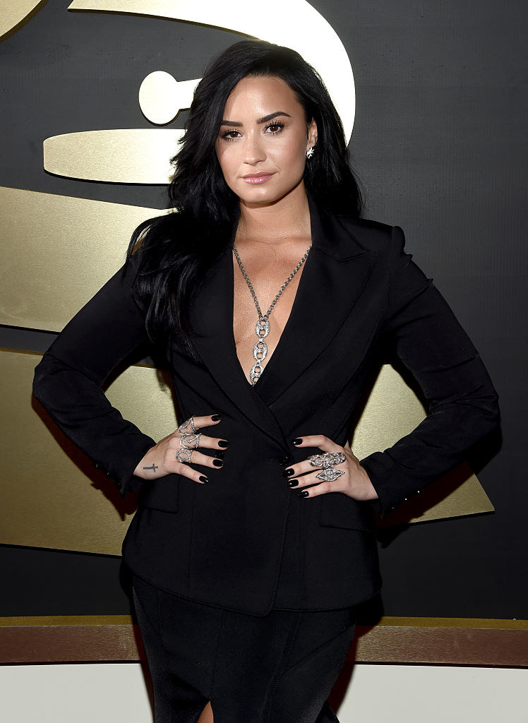 Demi Lovato attends The 58th GRAMMY Awards