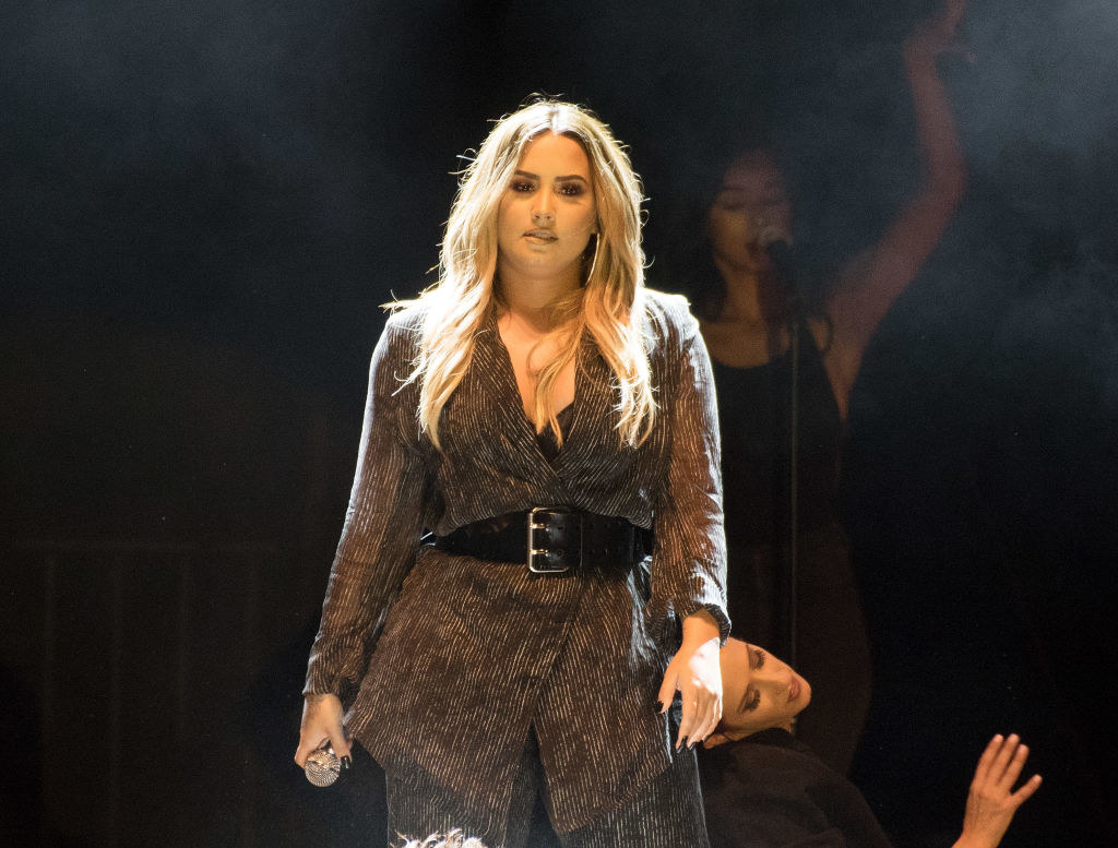 Demi Lovato performs during the 2018 California Mid-State Fair