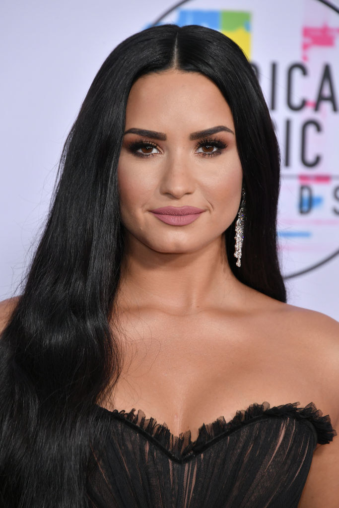 Demi Lovato attends the 2017 American Music Awards at Microsoft Theater on November 19, 2017
