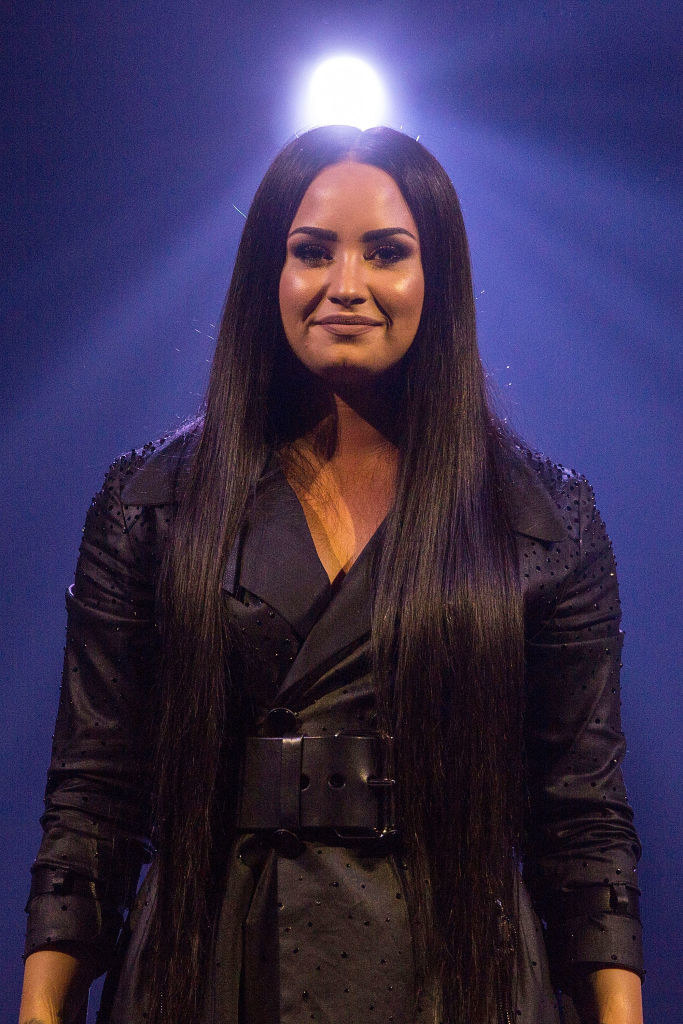 """Demi Lovato performs on stage during her """"Tell Me You Love Me"""" World Tour Opener"""