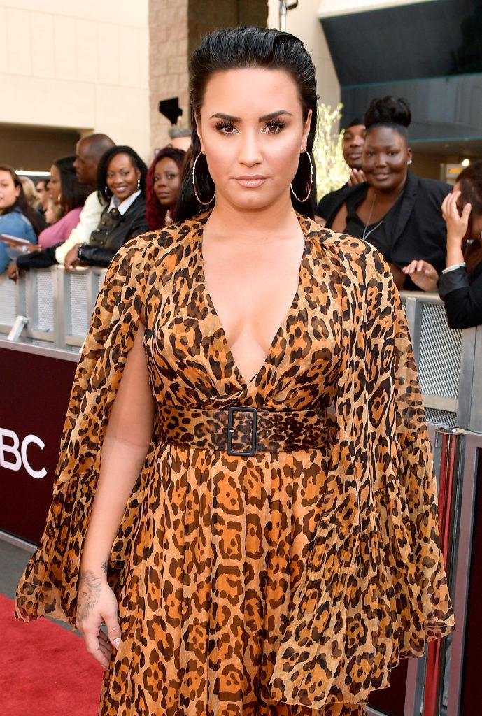 Demi Lovato attends the 2018 Billboard Music Awards at MGM Grand Garden Arena