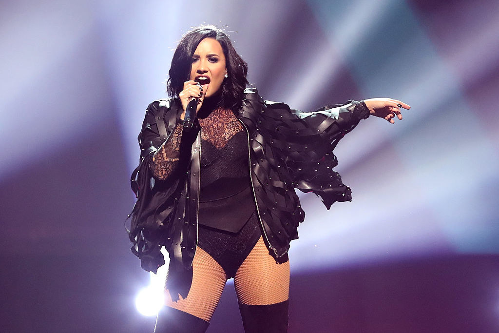 Demi Lovato performs at TD Garden