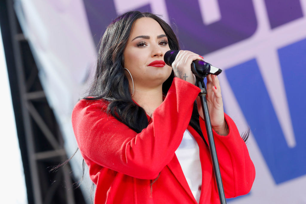 Demi Lovato performs onstage at March For Our Lives