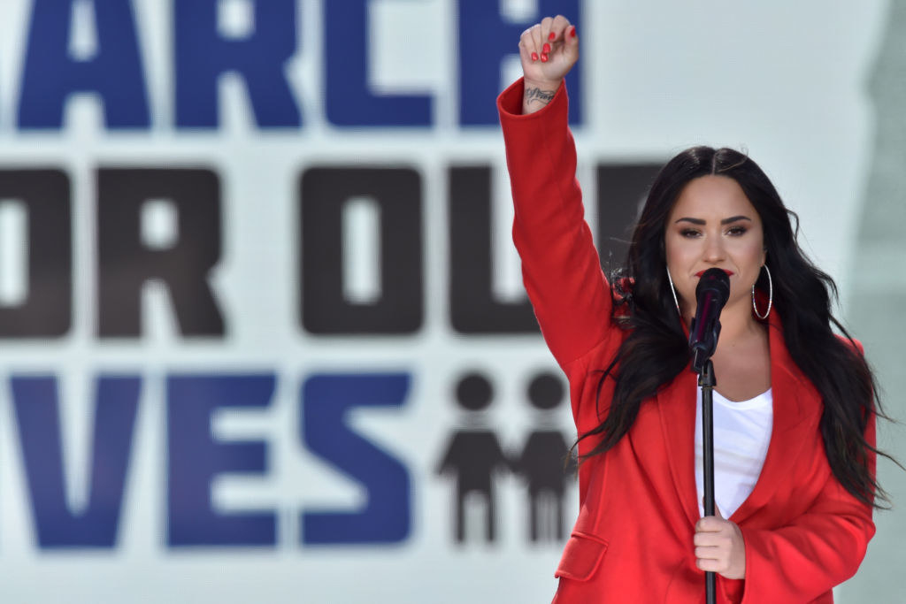 Demi Lovato sings at the March for Our Lives rally