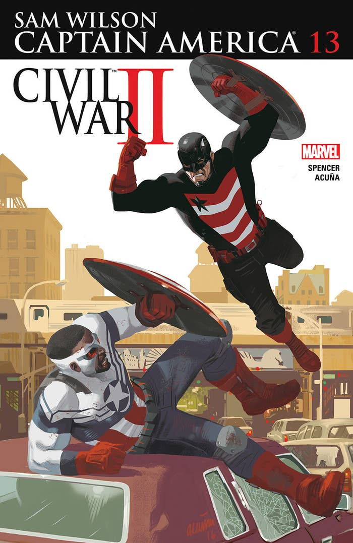 US Agent Fights Captain America sam Wilson