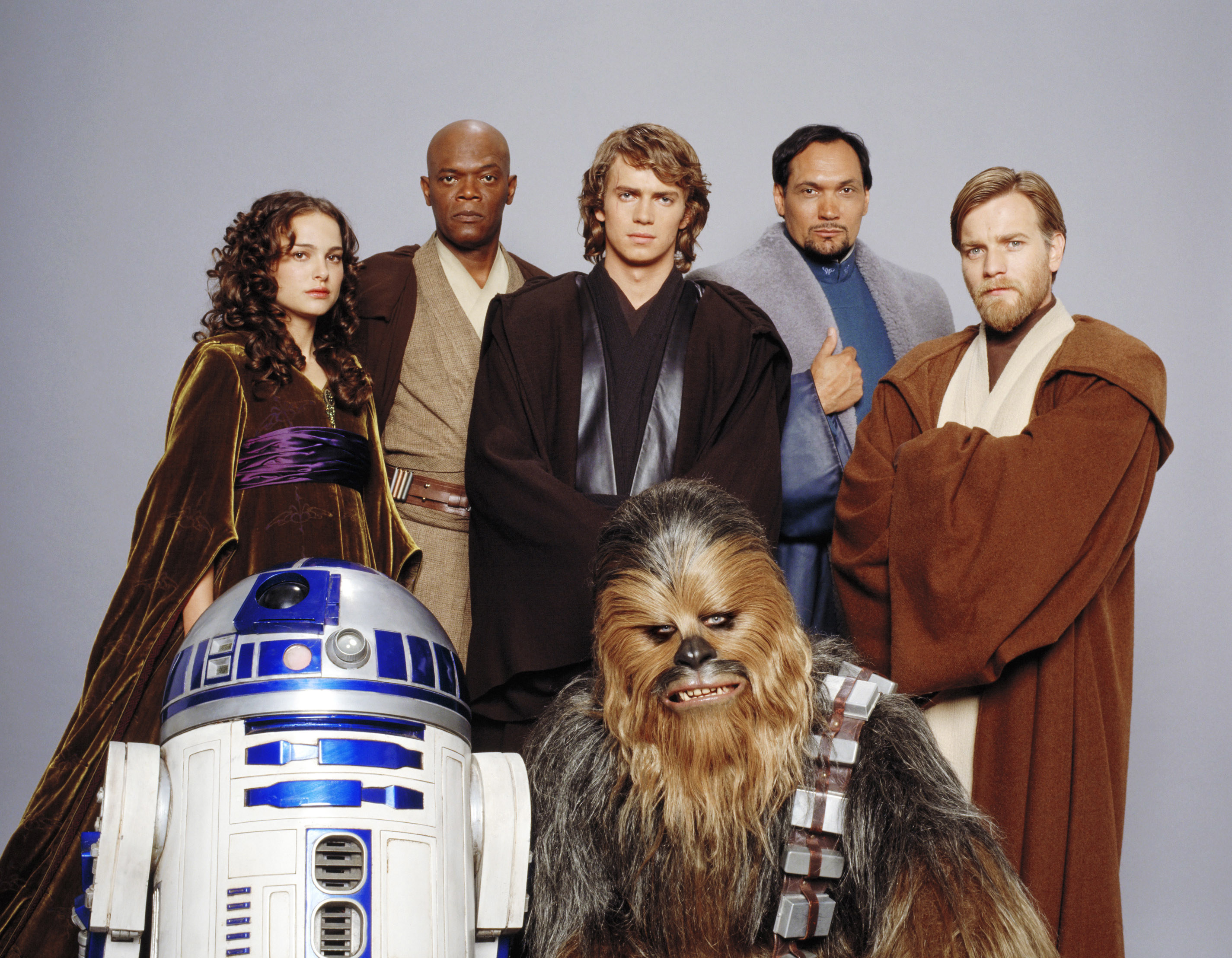 Promotional photo of the Revenge of the Sith cast