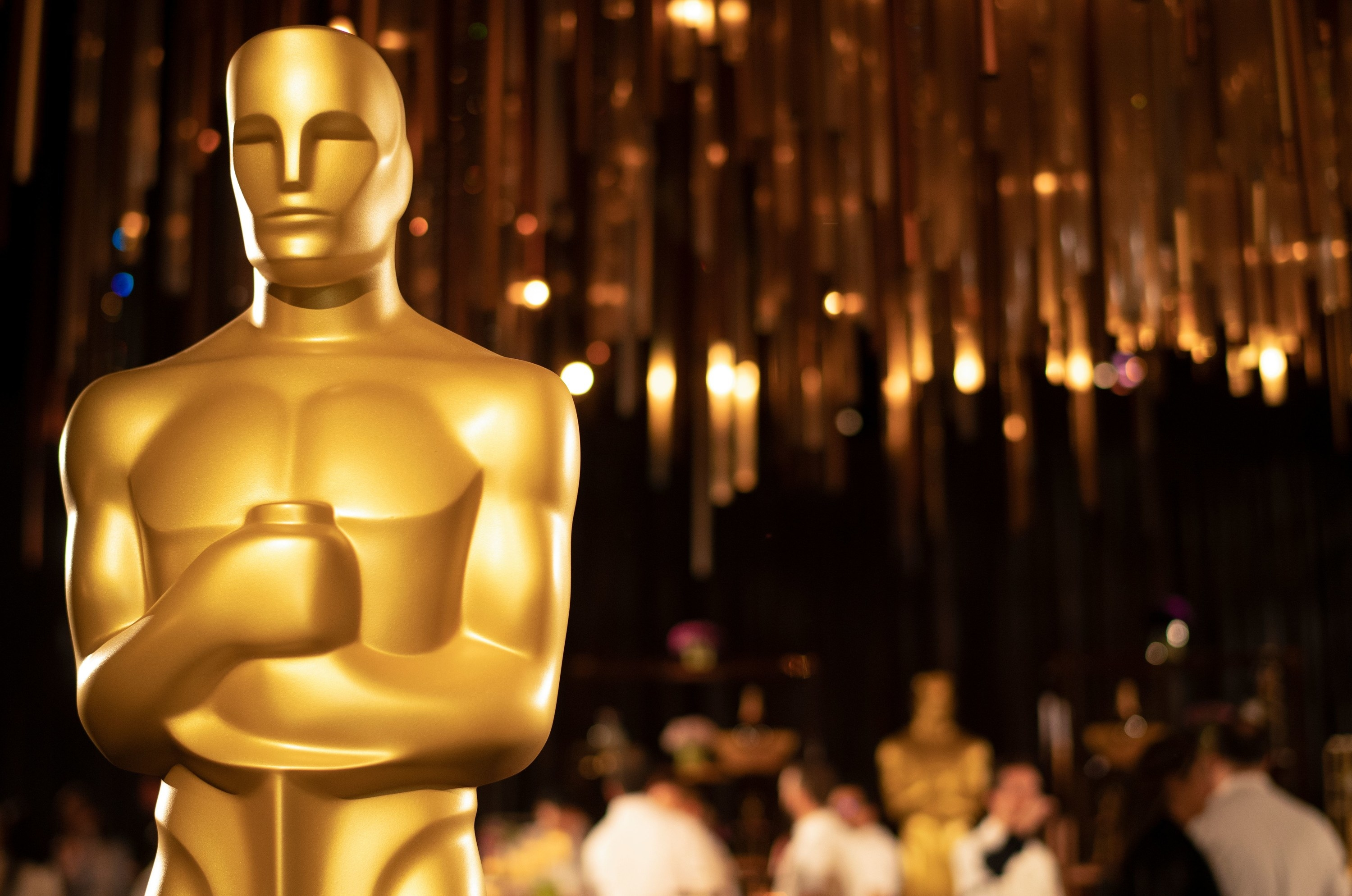 A photo of the Oscars statue