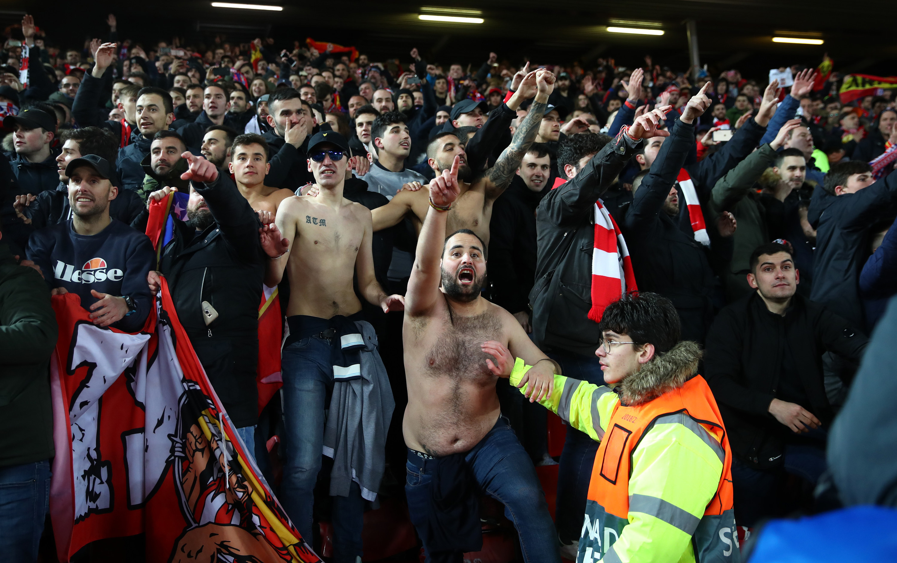 Liverpool fans cheering