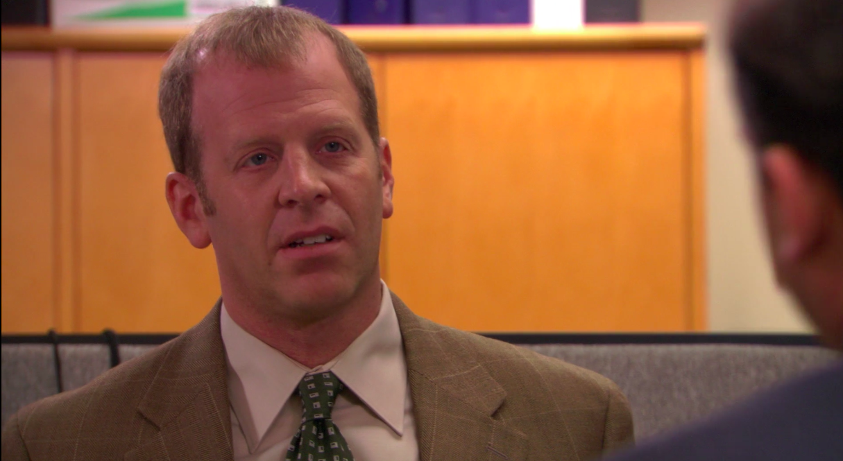 """Toby looking at Michael in """"The Office"""""""