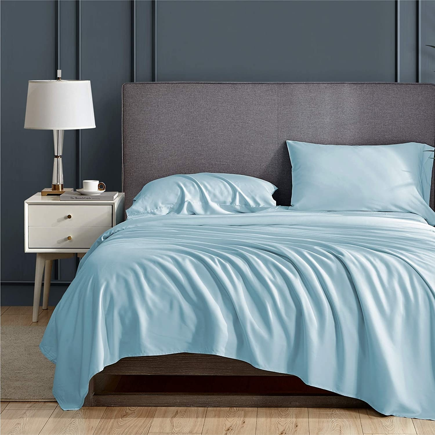 The set of sheets in blue