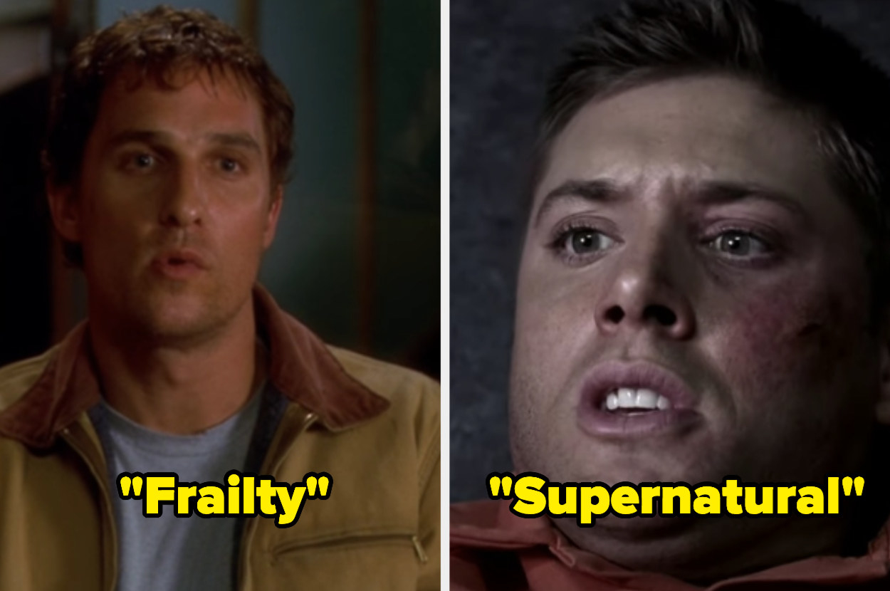 """Matthew McConaughey as Fenton in """"Frailty"""" and Jensen Ackles as Dean in """"Supernatural"""""""