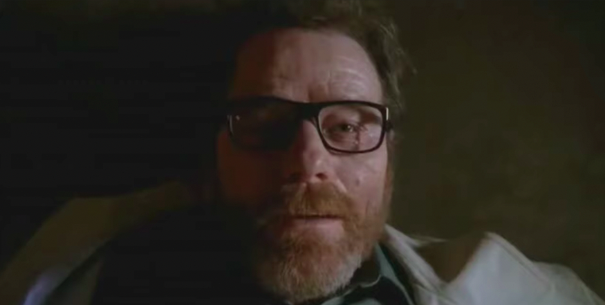 """Walter White on the floor after being shot in """"Breaking Bad"""""""