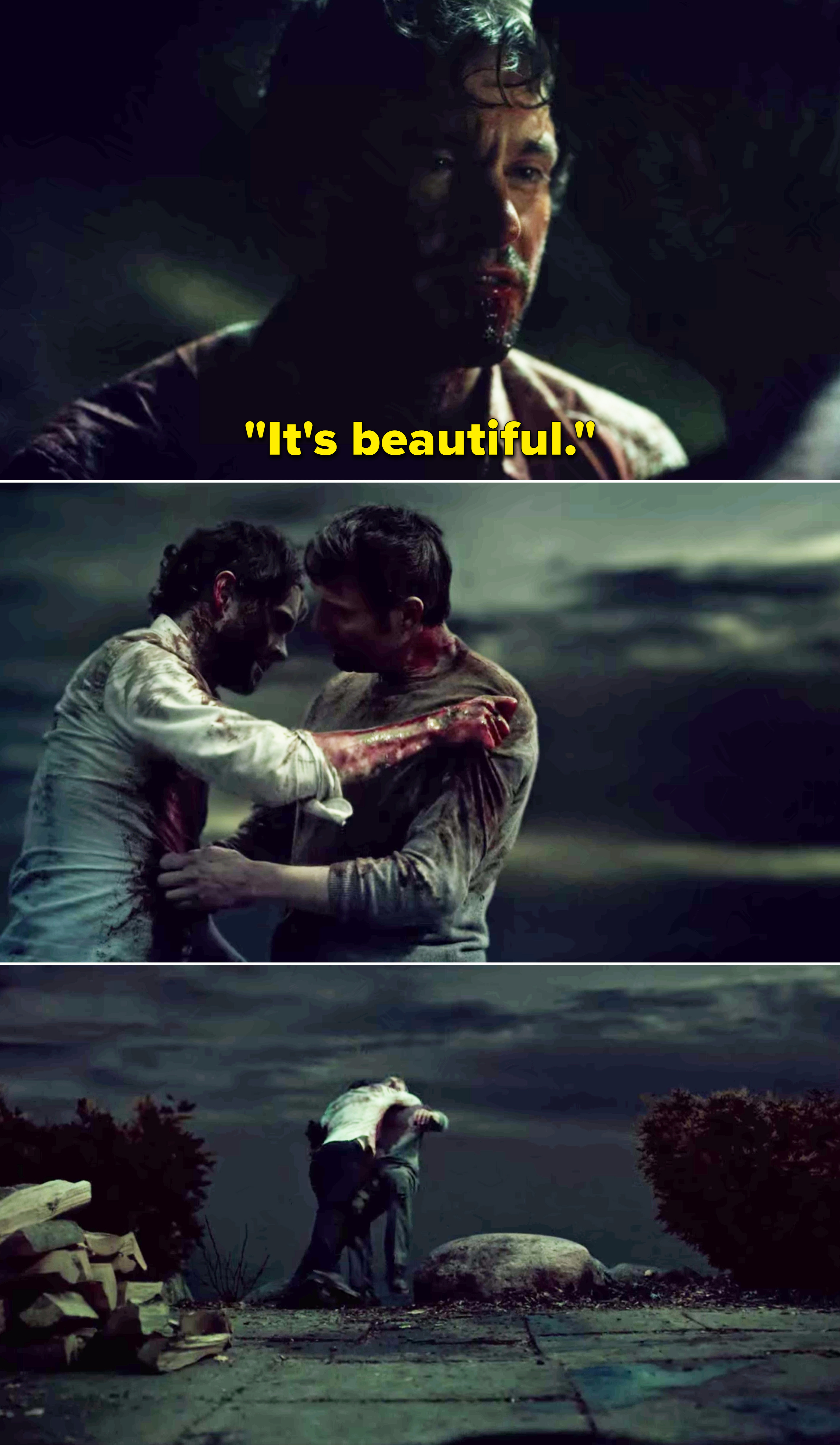 "Graham saying, ""It's beautiful"""