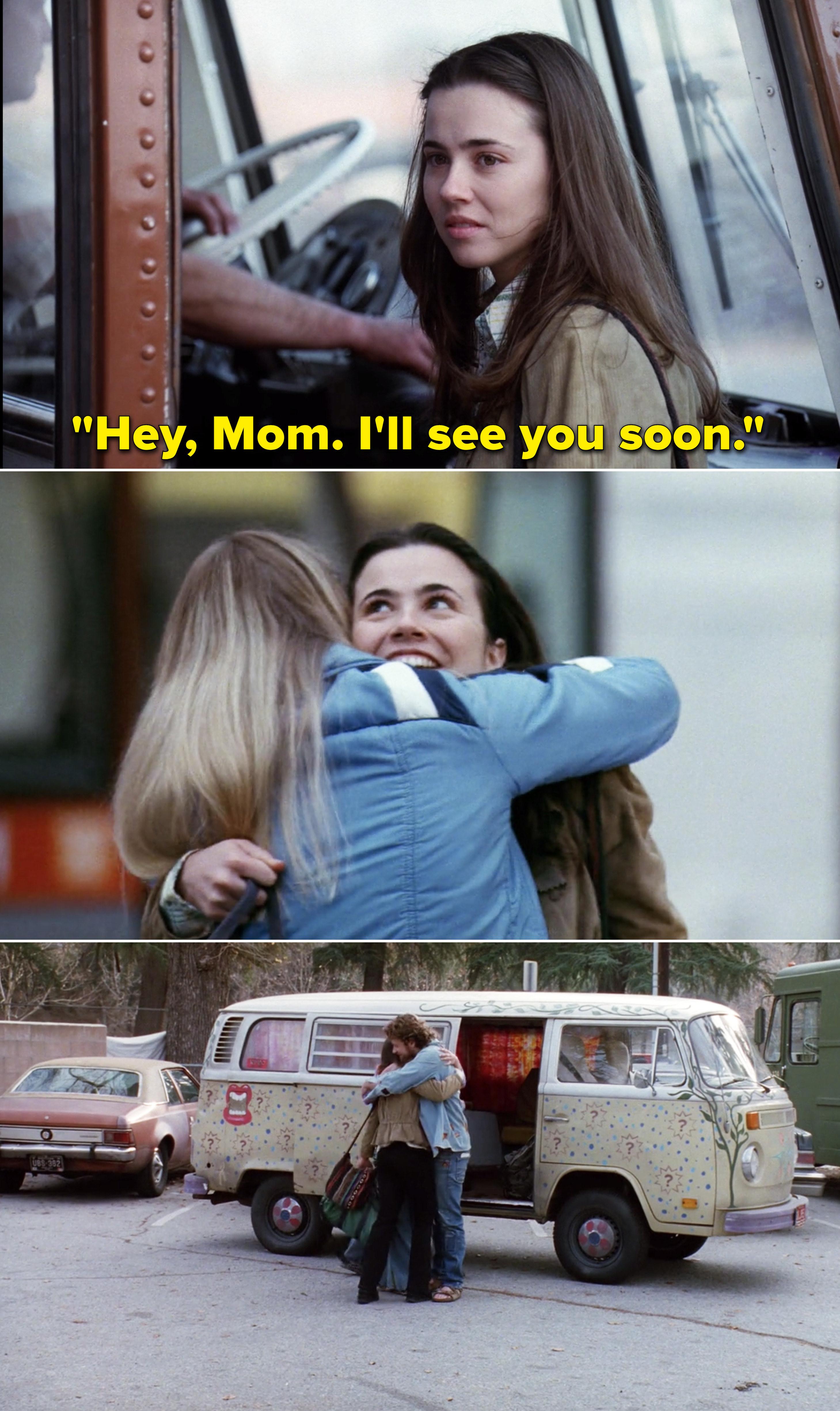 "Lindsay saying, ""Hey, Mom. I'll see you soon"""