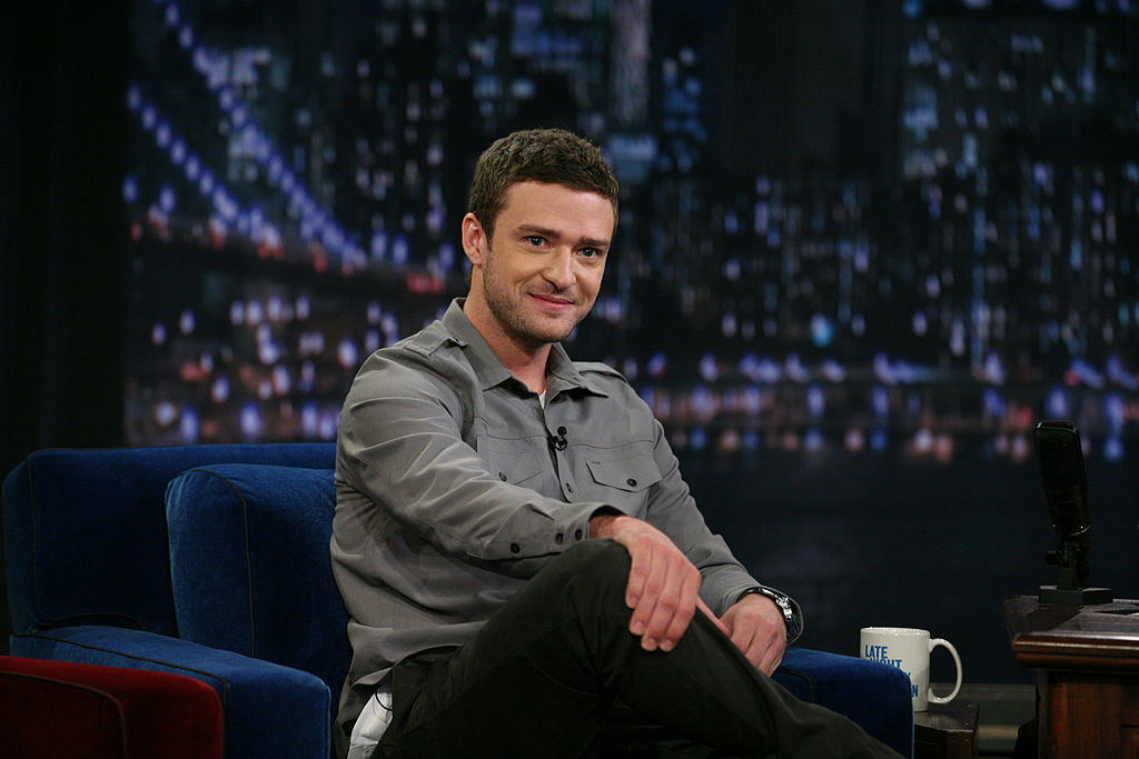 Justin Timberlake during an interview with Jimmy Fallon on July 19, 2011