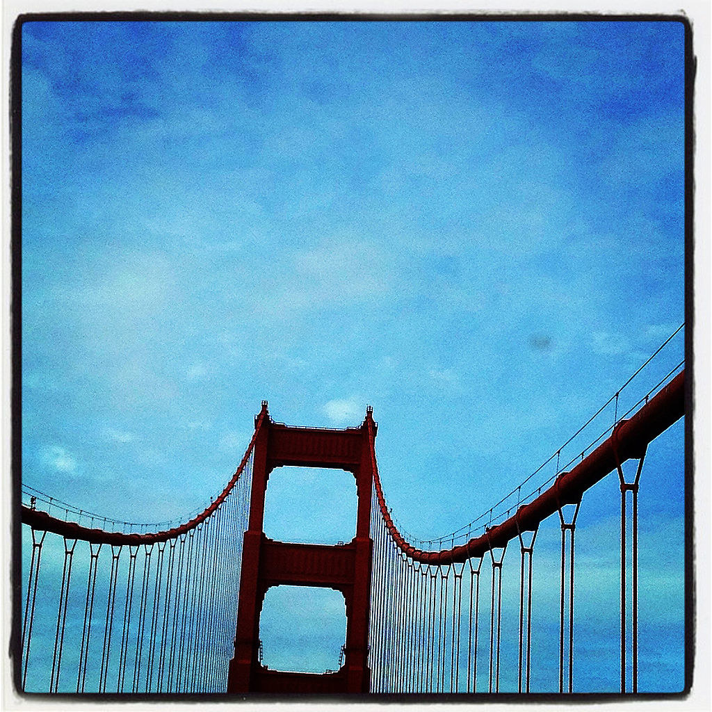 Photo of the Golden Gate Bridge taken on Instagram