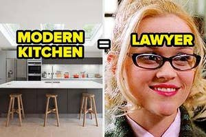 If you like a modern kitchen, you might be a lawyer one day