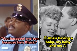 """Carl from """"Family Matters; Lucy and Ricky from """"I Love Lucy"""""""