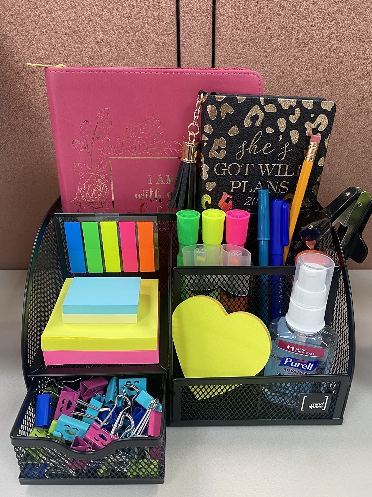 reviewer image of the mindspace desk organizer on a customer's desk