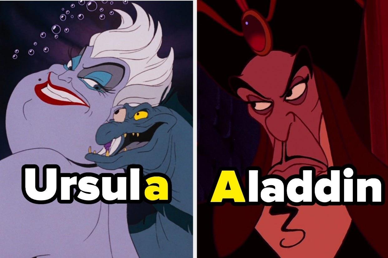 "Ursula and Jafar from ""Aladdin"""