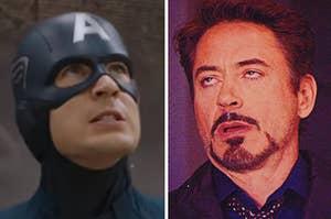 Captain America and Tony Stark