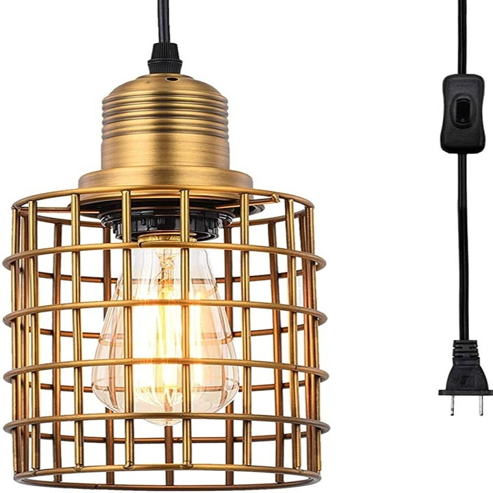 the brass cage light