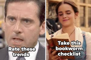 """Rate these trends"" and ""Take this bookworm checklist"""