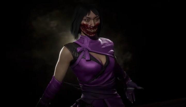 Mileena smiling