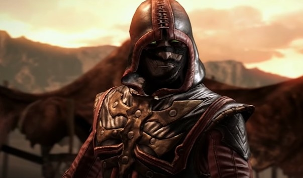 Ermac in a black and red hood