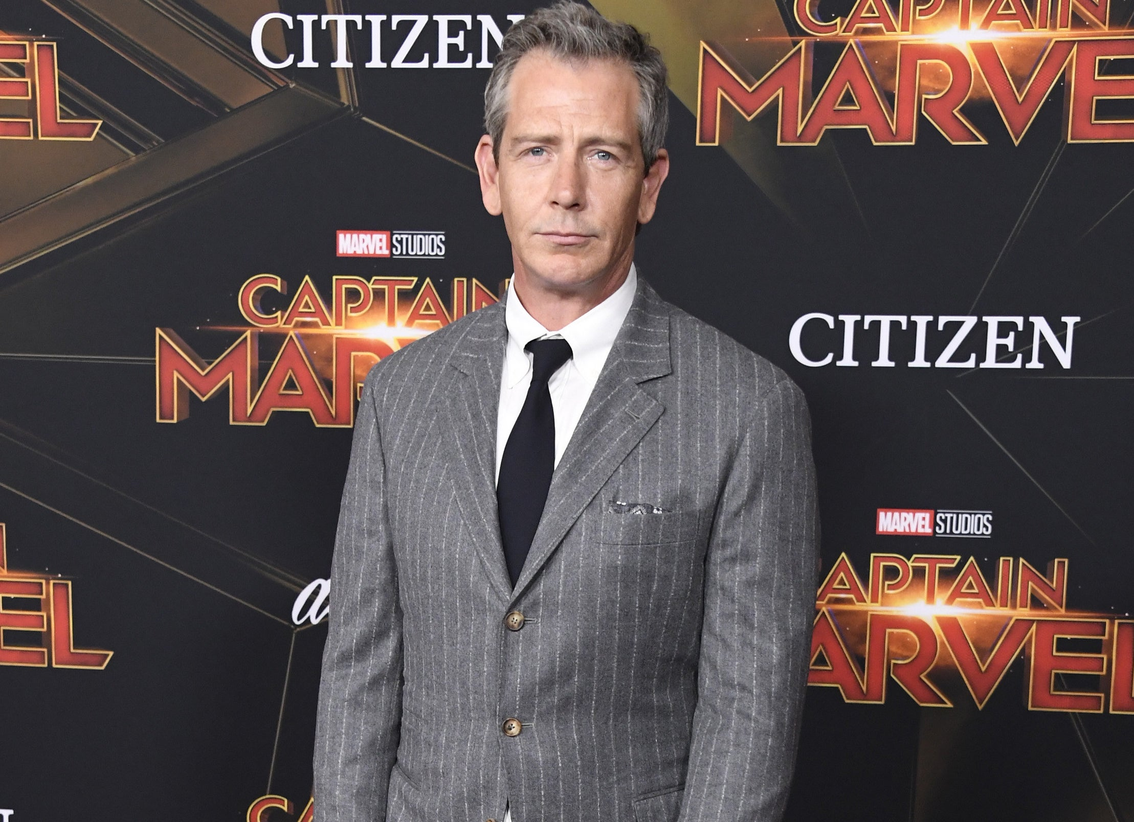Ben Mendelsohn wears a suit to the Captain Marvel premiere