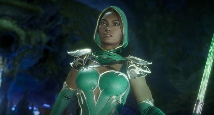 Jade holding her staff