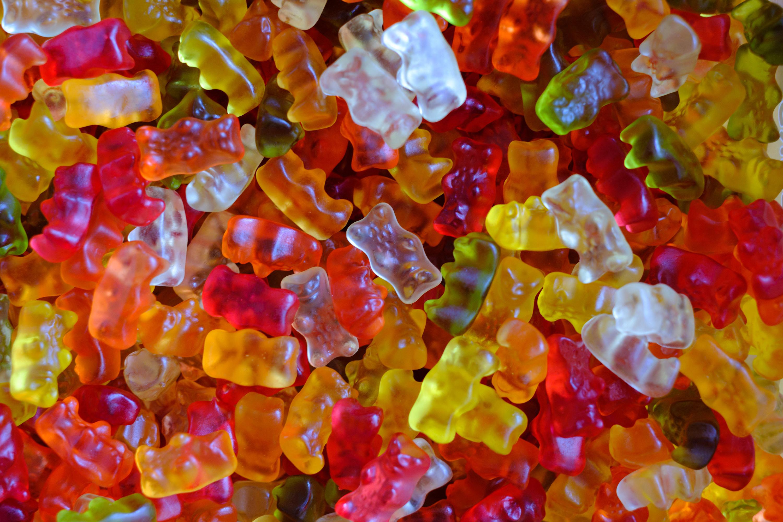 Close-up photo of gummy bears