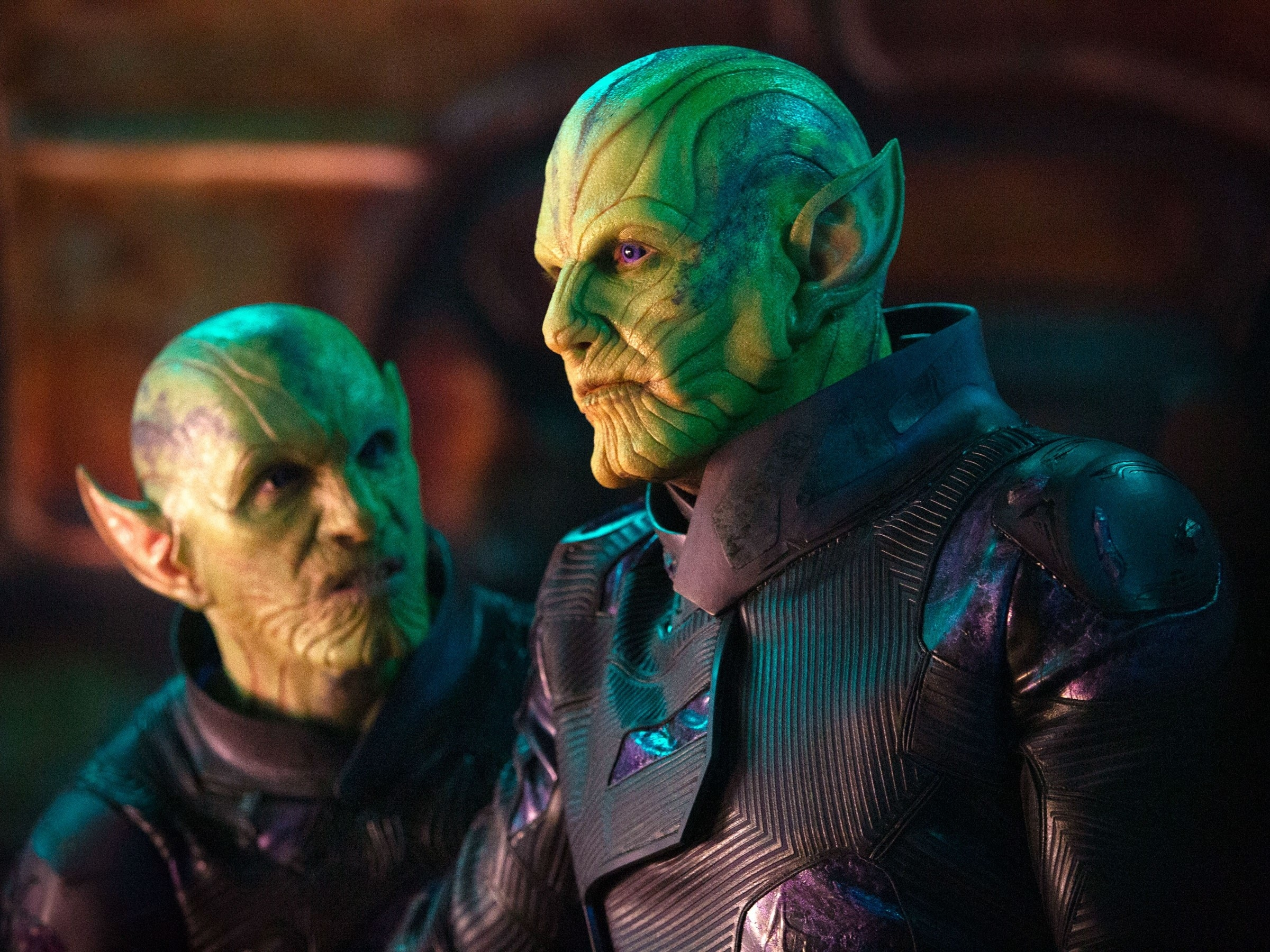 Talos stands next to another Skrull