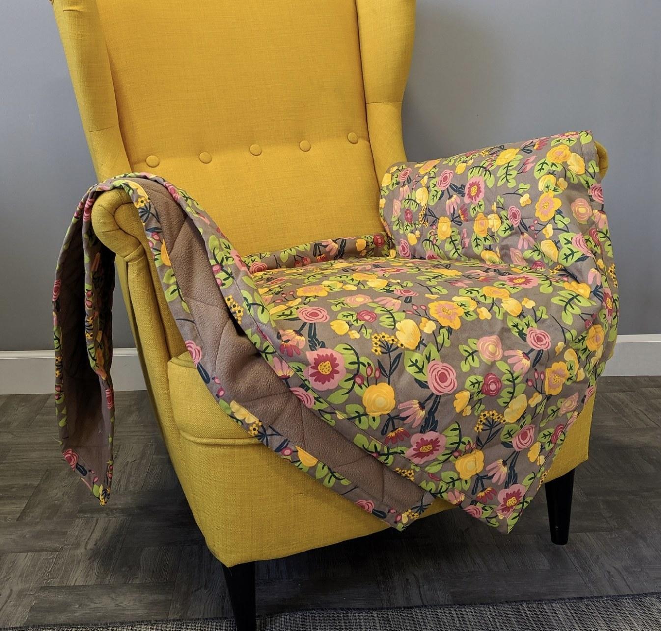 A floral blanket