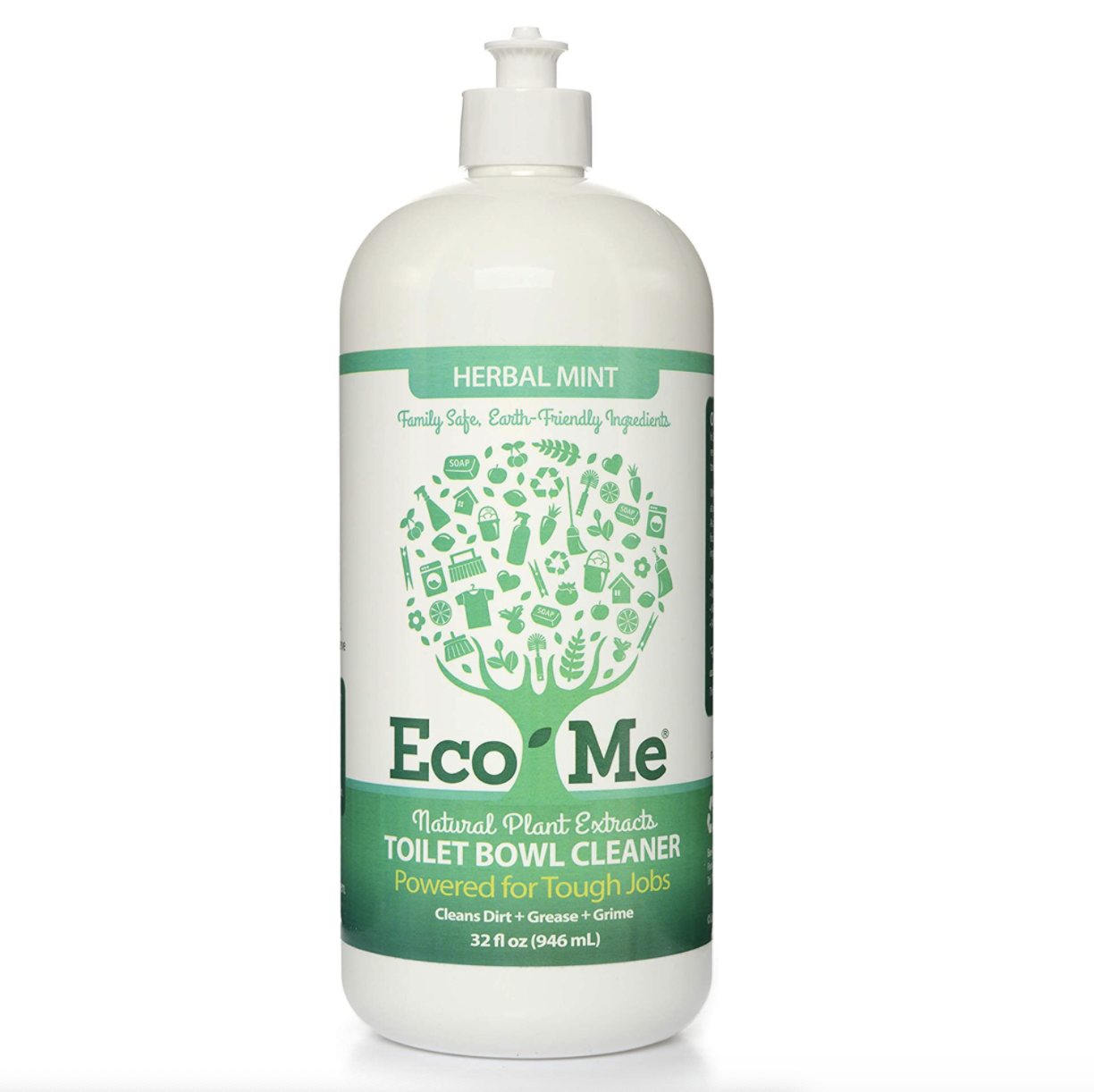 a bottle of Eco-me toilet bowl cleaner
