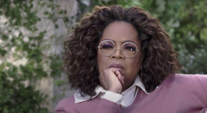 Oprah looking intently