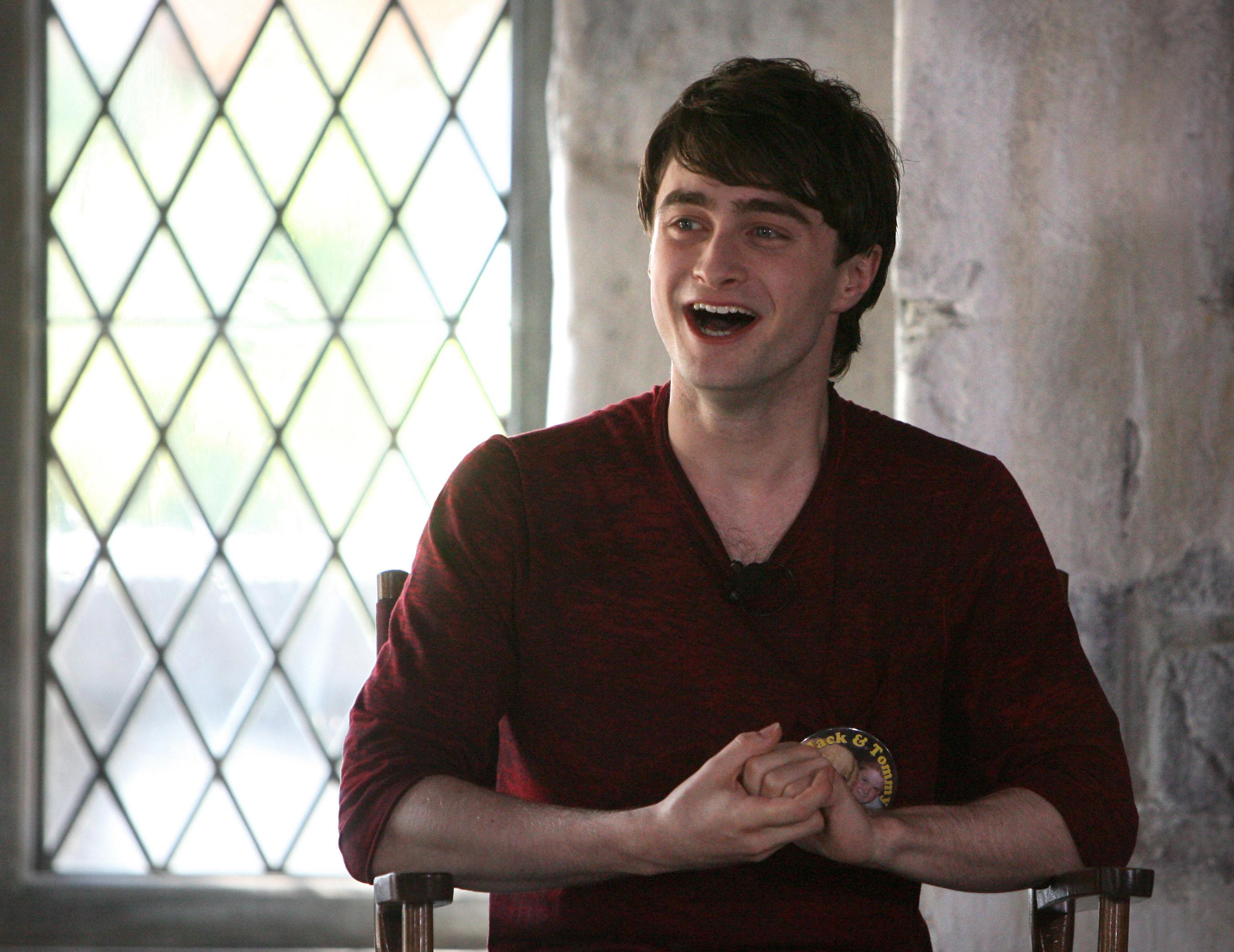 Actor Daniel Radcliffe smiling