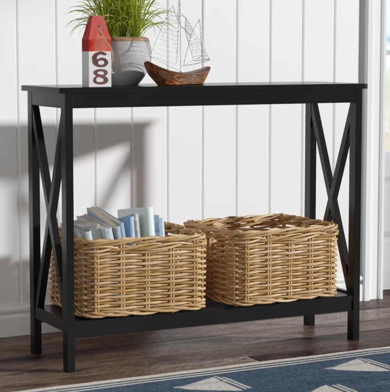 The console table in black